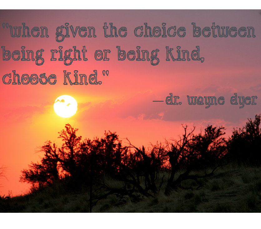 Image result for if you have a choice between being right or being kind choose kind