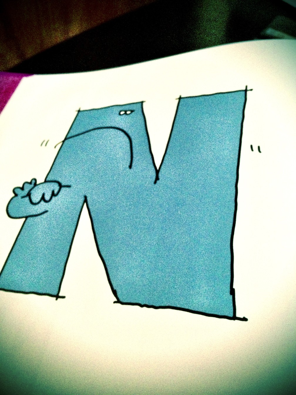 N is for No